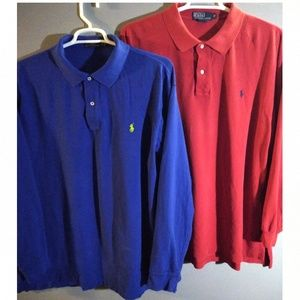 Polo by Ralph Lauren (2) men's 2XBIG POLO SHIRTS